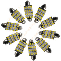 Wholesale Super White 41mm - 50 pcs   lots of - 42mm 16 LED 3528 SMD Light Festoon Dome Car Bulb Lamp Super White