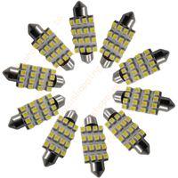 Wholesale Super Led Dome Light - 50 pcs   lots of - 42mm 16 LED 3528 SMD Light Festoon Dome Car Bulb Lamp Super White