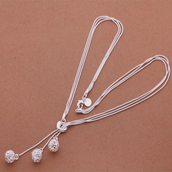 Las órdenes mezcladas de calidad superior 925 colgante de plata collar de joyería de moda para las mujeres envío gratis 12 unids / lote