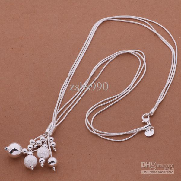 Silberne hängende Halskettenart und weiseschmucksachen der Mischungs-Art- und Weiseschmucksachen der Qualitäts 925 für Frauen geben Verschiffen / frei