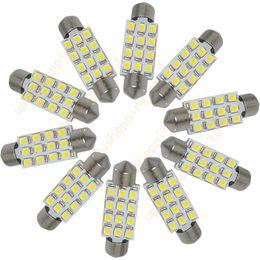 Wholesale 12 Led Dome Interior - 10 pcs   lots of - 39mm 12 3528 SMD LED White Car Interior Dome Light Lamp Festoon Bulb 12V