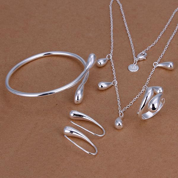 Wholesale - lowest price Christmas gift 925 Sterling Silver Fashion Necklace+Earrings set QS151