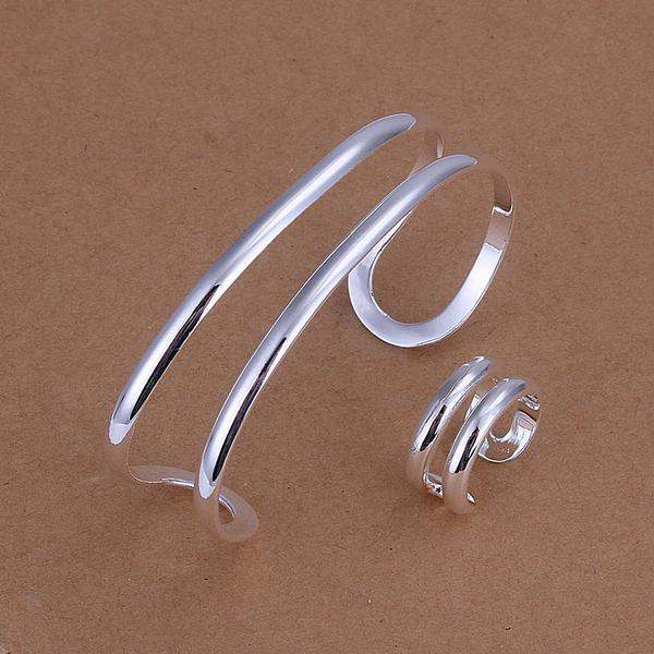 Großhandel - niedrigsten Preis Weihnachtsgeschenk 925 Sterling Silber Fashion Halskette + Ohrringe Set QS160