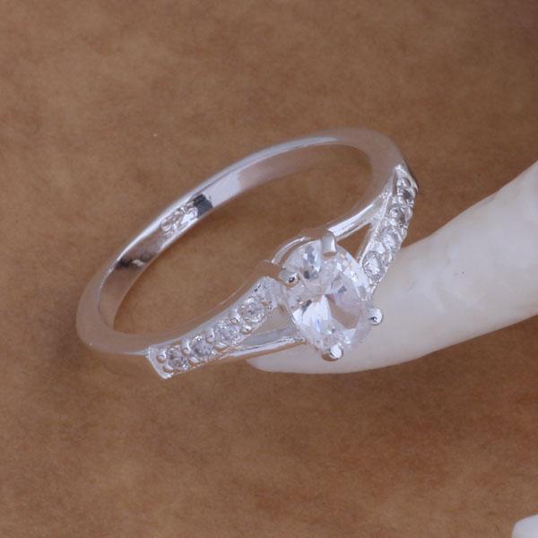 Top qualité 925 bague en cristal d'argent bijoux de mariage pour les femmes de la mode mélange classique commander livraison gratuite /