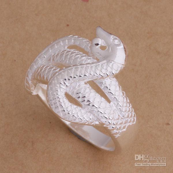 Bijoux de mode 925 bague en argent serpent 6-9 # cadeaux de Noël expédition gratuite /