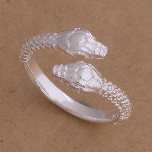 Silberne Schlange der niedrigen Preis-Spitzenqualität 925 schellt unisexschmucksachen der Ringe freies Verschiffen /