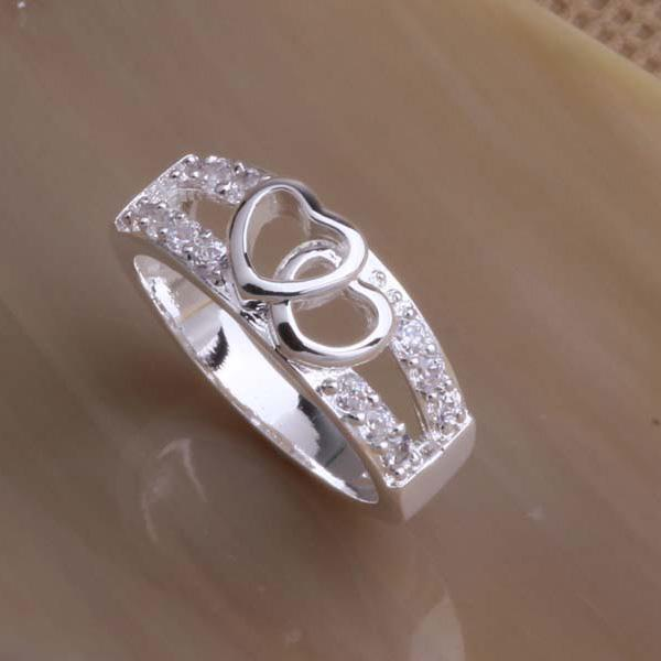 Fashion Jewelry 925 silver finger ring 6-9 # Top quality