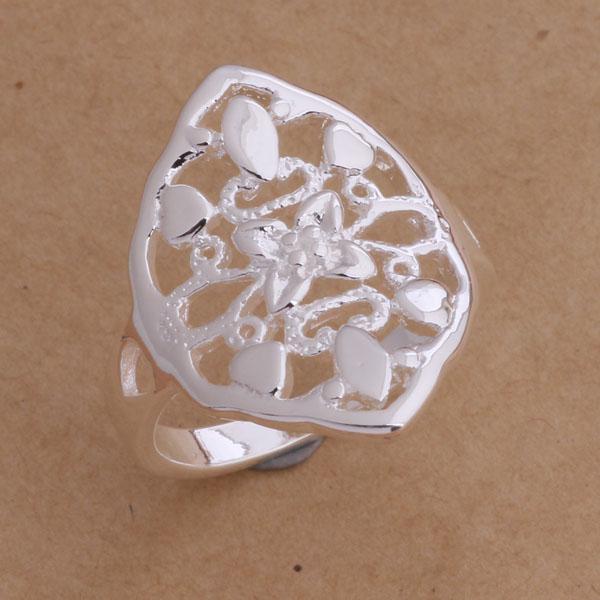 Orden mezclada Joyería de moda 925 anillo de dedo de plata 6-9 # envío libre de calidad superior /