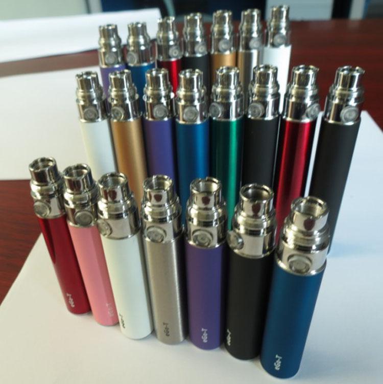 El precio más barato 650mAh 900mAh 1100mAh batería eGo-T para eGo W eGo C e-cigarette Multi Colors twist ce4 ce5 Atomizador para envío gratuito