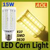 High Quality 15W E27 60 LED 5630 SMD 1800LM LED Corn Bulb White Warm White E14 B22 110V 220V LED Energy Saving Lamp