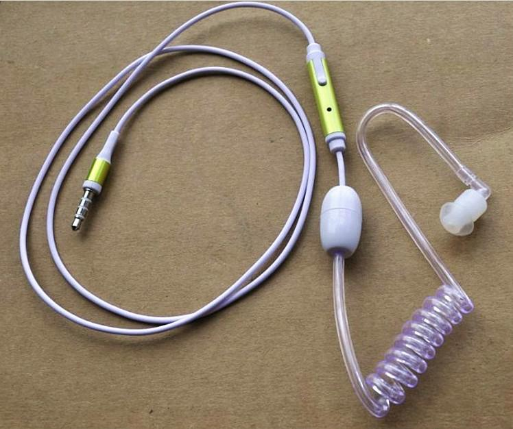 Anti Radiation Air Tube Headphones For IPhone Safe Mobile ...