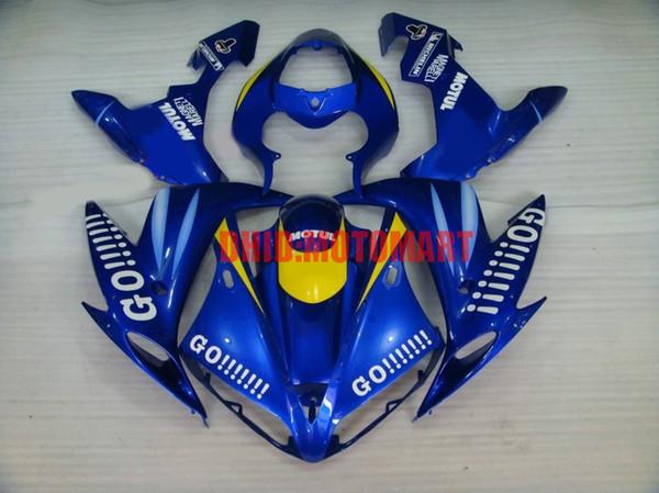 Kit de carenado de motocicleta para YAMAHA YZFR1 04 05 06 YZF R1 2004 2005 2006 YZF1000 ABS Cool Blue Fairings set + regalos YD08
