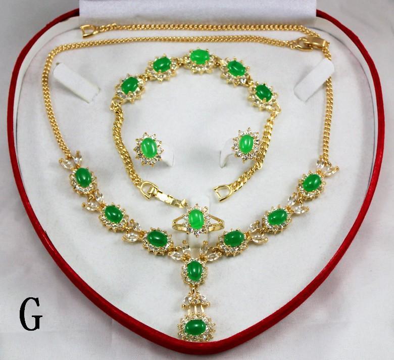 Sistemas románticos de la joyería de plata Sistemas de la boda Aleación de cristal rojo blanco Collares Pendientes Pulsera, juegos de anillos es libres elegir