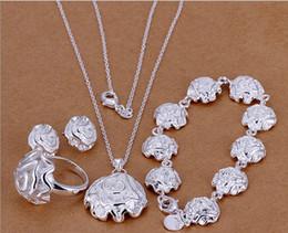 afrikanischer smaragdring Rabatt Großverkauf - Roses meistverkaufte 925 silberne Charme-Schmuckkombination des Valentinstaggeschenksatzes geben Verschiffen frei