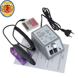 Wholesale Electric Nail Filing Machine - Wholesale - Free Shipping Professional Manicure Pedicure Electric Drill Nail Pen Machine Set Kit File BitS 220V