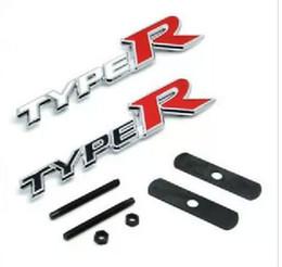 Wholesale Toyota Logo Emblem Sticker - (20pieces lot) TYPER Metal Emblem Badge Logo Alloy Car Logo Grill Badge for car decoration car tuning for Toyota