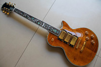 Wholesale Burst Electric Guitar - 20120925 custom shop 1958 beer-burst 3 pickups Tree of life inlay fret board ( flower ) Abalone Binding Body electric guitar