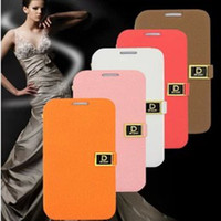 Wholesale Note2 Retail Box Case - new D WORD filp wallet leather stand holder case cover skin with credit card for Samsung Galaxy S3 S4 i9500 i9300 note2 with retail box