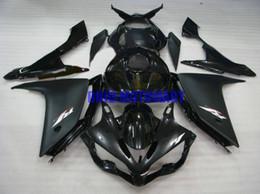 conjunto completo carenados Rebajas Kit de carenado de la tapa del tanque completo para YAMAHA YZFR1 07 08 YZF R1 2007 2008 YZF1000 Gloss Black black Fairings set + regalos YE08