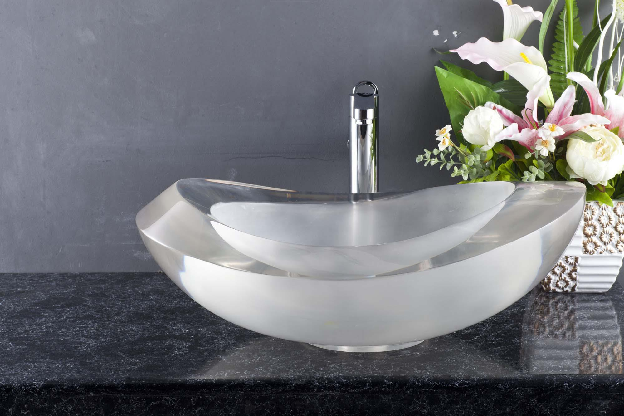 Elegant European Style Translucent Resin Bathroom Sinks Wash Basinsitem AX1003 ...