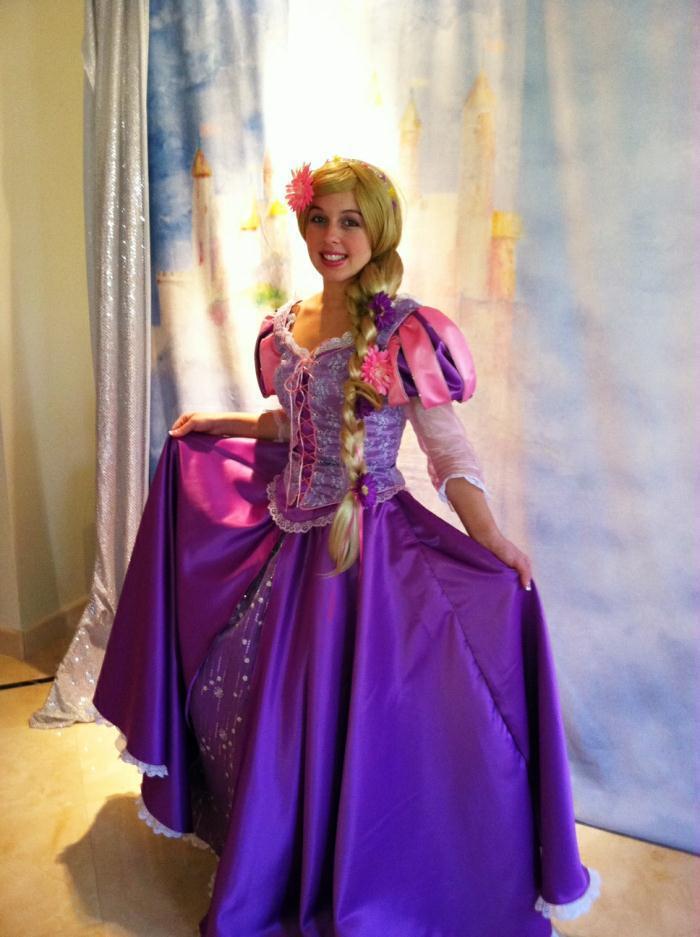Compre Ohlees Enredados Rapunzel Mujeres Carnaval Largo Del Partido ...