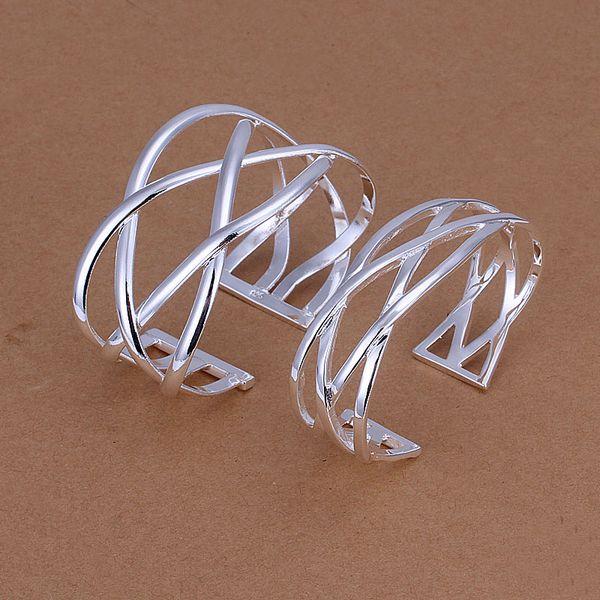 Großhandel - niedrigster Preis Weihnachtsgeschenk 925 Sterling Silber Fashion Halskette + Ohrringe Set QS178