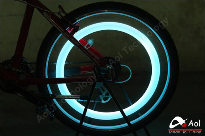 Hot Bike Bicycle LED Lights Motorcycle Electric Car Wheels Spokes Lamp Silicone Flash Alarm Light Cycle