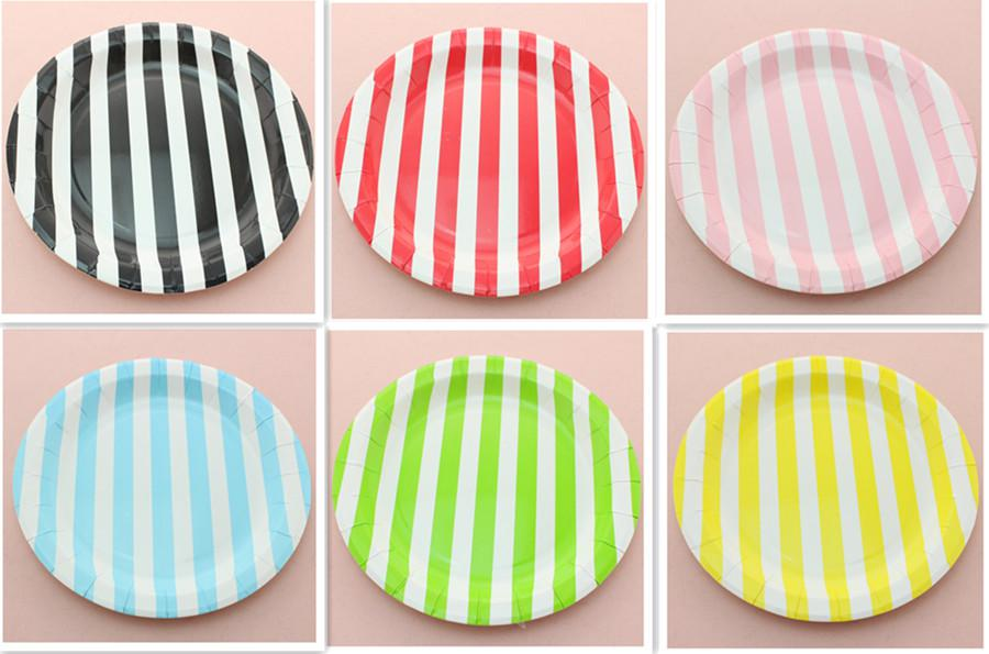 Eco-friendly RED PINK BLACK BLUE GREEN YELLOW 9\  Round Chevron Paper Plates For  sc 1 st  DHgate.com & FREE SHIPPING 1080pcs Eco-friendly RED PINK BLACK BLUE GREEN YELLOW ...