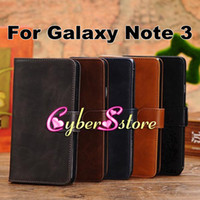 Wholesale Top Quality Retro vintage Wallet Flip PU leather Case Cover With Credit Card Slot Slots Pouch For Samsung Galaxy Note N9000 III Note
