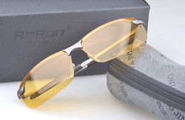 무료 배송 Polarized Night Vision Goggles Polarized 선글라스 운전 안경 Anti-vertigo Yellow + 안경 케이스