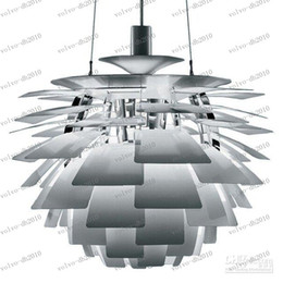 Wholesale Henningsen Artichoke - LLFA2418 European Style Modern Aluminum 60CM Poul Henningsen PH Artichoke Ceiling Light Pendant Lamp home decoration living room guesthouse