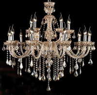 K9 crystal ceiling light luxury European style candle lighti...