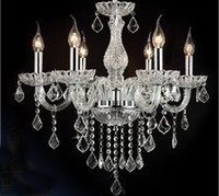 K9 crystal ceiling light luxury European style dining room c...