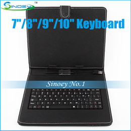 Wholesale Cube Tablet Cases - Cheap Portable Keyboard Leather Case with standby suit for 7-10 inch MID Sanei Ainol Pipo Cube Ramos A13 A20 Tablet PC