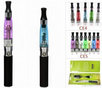 EGO CE4 KIT BLISTER PACK 1.6 ml 2.4OHM Atomiseur Cigarette électronique 650 mah 900mAh 1100 mah EGO serise coloré batterie g5 e-cig 60 pcs