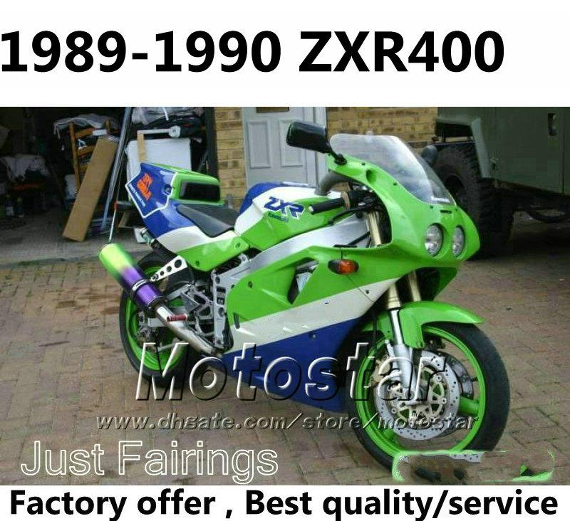 7 Gifts Fairings Kit For Kawasaki Zxr400 1989 1990 Zxr 400 89 90 Green Blue Fairing Body Kits 2 Cheap Motorcycle Sale
