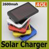 Retail packaging 2600mAh Solar Charger Portable USB Solar Power Charger mobile power For Mobile Phone MP3 MP4 PDA battery charger