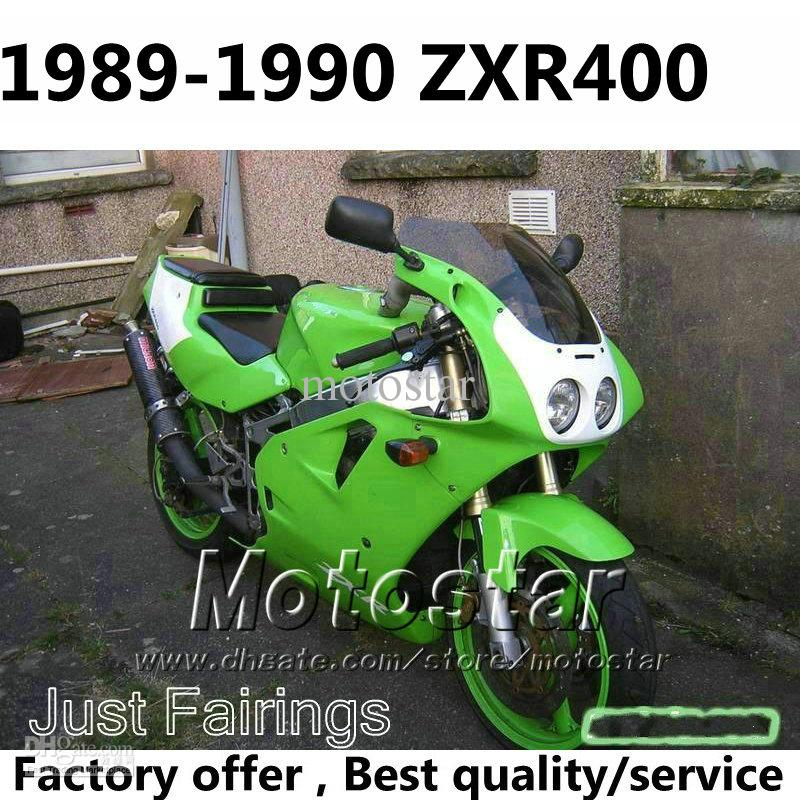 ABS Fairings For Kawasaki ZXR400 1989 1990 Zxr 400 89 90 ZX R400 OEM Green White Fairing Body Kits Gt2 Zxr400 Online With