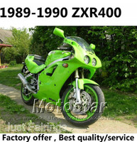 Wholesale Kawasaki 1992 - ABS fairings kit for Kawasaki ZXR400 1989 1990 zxr 400 89 90 ZX-R400 all green fairing body kits JU3