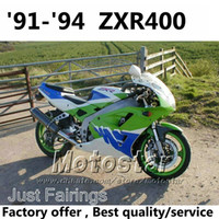 Wholesale Kawasaki 1992 - Fairings kit for Kawasaki ZXR400 1991 1992 1993 1994 91 92 93 94 ZX-R400 green blue white fairing kits accept custom paint