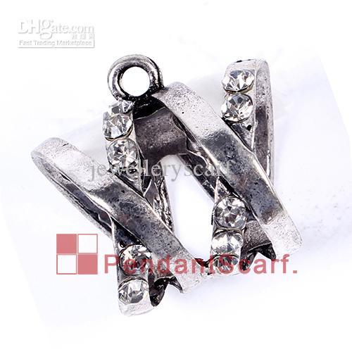 / heiße Art und Weise neue Art DIY Schmucksache-Halsketten-Schal-hängende geistige Legierungsrhinestone-Charme-Dia-Kaution-Rohr, freies Verschiffen, AC0232
