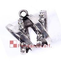 Wholesale Bail Rhinestone Charm - 12PCS LOT Hot Fashion New Style DIY Jewellery Necklace Scarf Pendant Mental Alloy Rhinestone Charm Slide Bails Tube, Free Shipping, AC0232