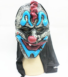 Wholesale Masquerade Masks Quality - Scary Skull Halloween Masquerade Mask Exaggerated Shapes Rubber Skin Festive & Party Supplies Party Masks Good Quality MK007