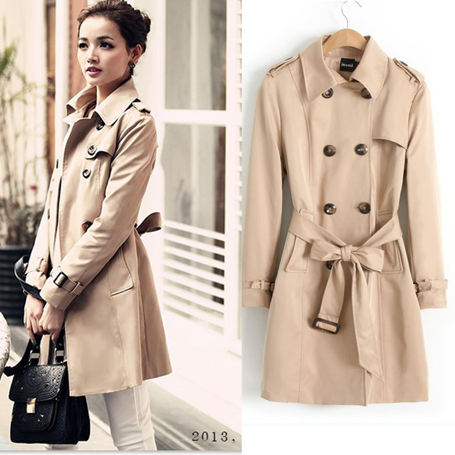 2017 Trench Coat 2013 New Women's Autumn Korean Temperament Slim ...