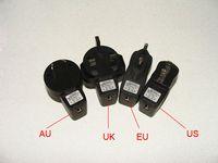 Wholesale cig adapter - Hottest AC-USB adapter for USB Wall charger US Plug  EU Plug  UK Plug  Au Plug forElectronic Cigarette E-cigarette E-cig Ego t Ego Adapter