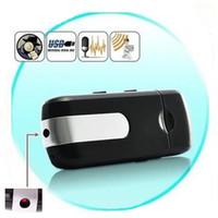 Wholesale Motion Detect Hd Spy Cam - Spy Camera HD Mini USB Disk Spy Cmera DVR U8 Motion Detect Camera Cam Hidden Camera Free Shipping