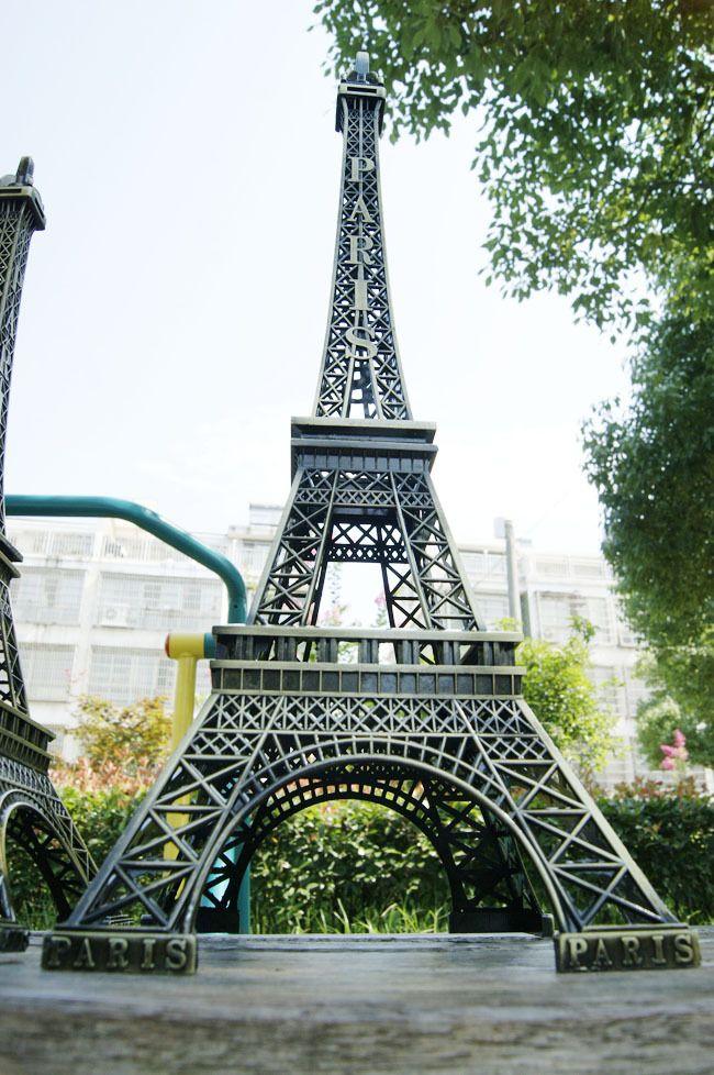 48CM طويل القامة 3D باريس برج ايفل لامع نموذج برونزية اللون والحرف اليدوية لبيع الهدايا الزفاف اطلاق النار اللوازم الدعامة الرئيسية الديكور