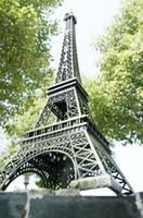 Wholesale Eiffel Tower Metal Model - New 72CM 2.83INch high Large size France paris 3D Metal Eiffel Tower model Alloy Eiffel Tower desk table office home wedding decoration