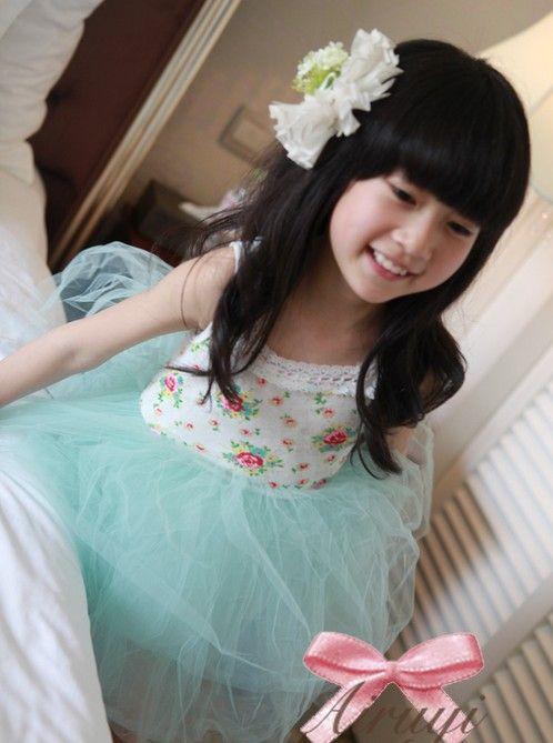 2016 new girl's Floral 6 layers of cotton gauze super beautiful princess vest dress children's clothing