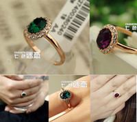 wedding Ring, Simulated Red Gemstone finger rings , women gol...